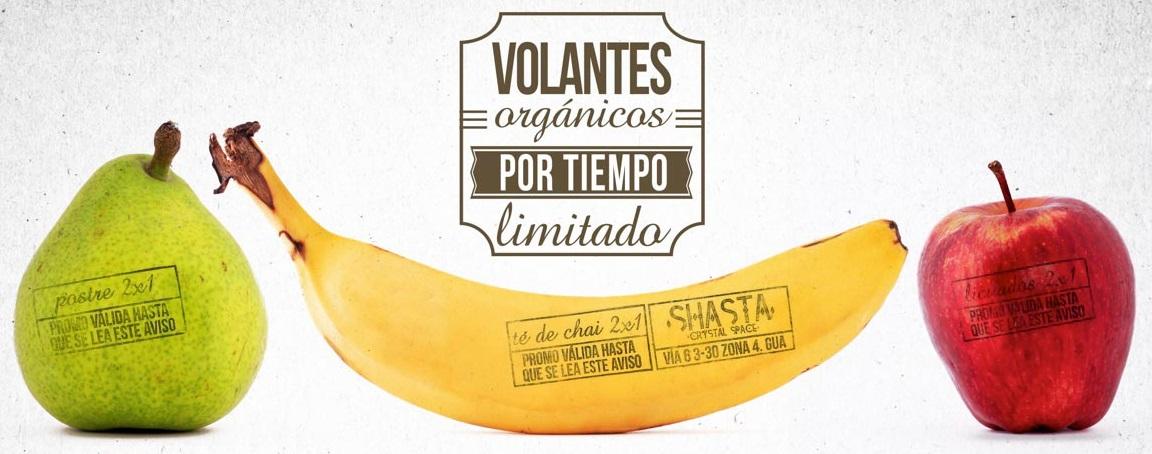 Campaña gráfica sobre frutas orgánicas