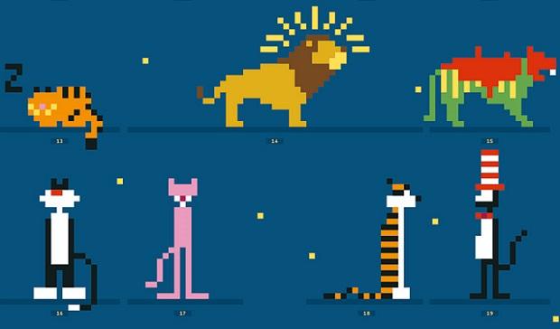 Felinos famosos en 8 bits