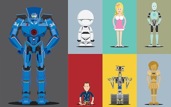 Ilustraciones de robots famosos