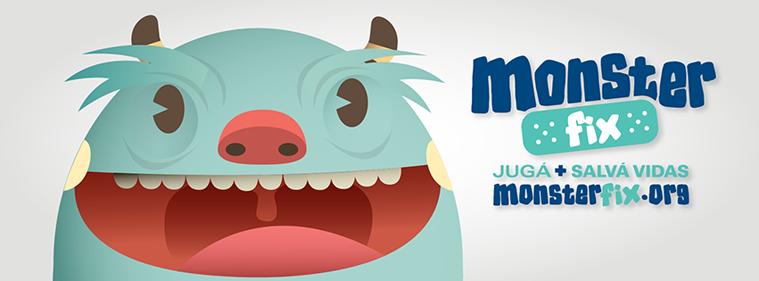 Monster Fix, un juego diseñado para divertirse y salvar vidas.