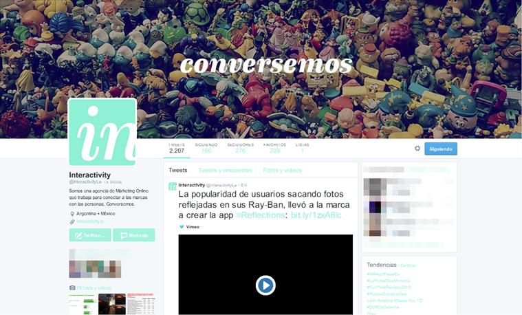 Interactivity - Twitter