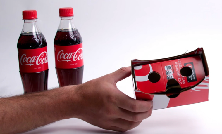 Packaging de Coca-Cola puede ser reutilizado como visor de VR