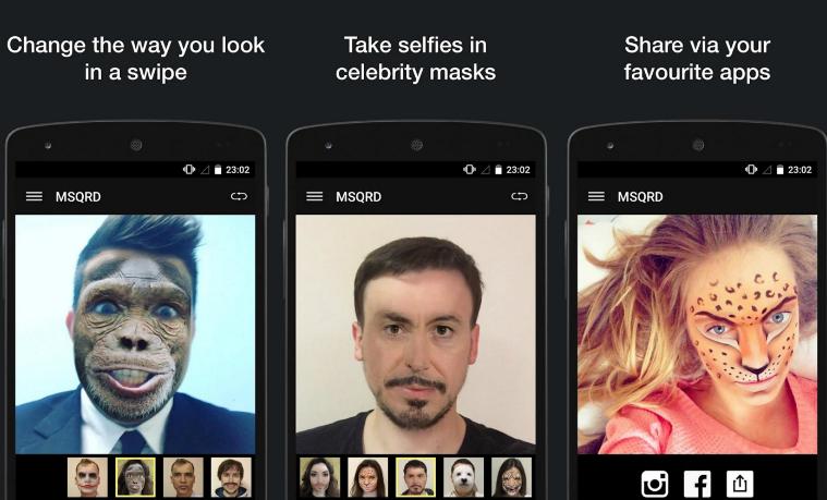 Facebook anunció la compra de la app para cambiar tu cara MSQRD