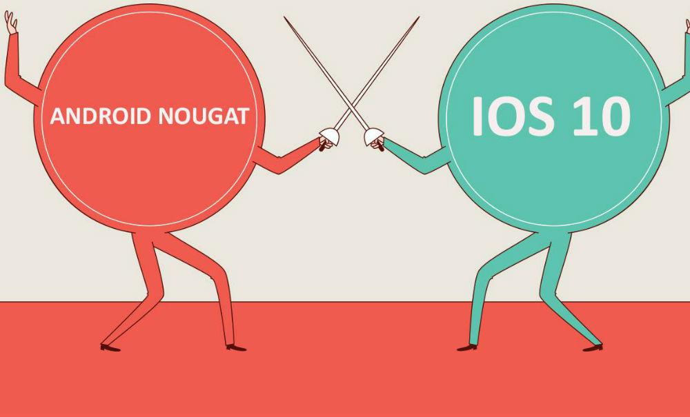 iOS 10 vs. Android Nougat: ¿Cuál es el mejor sistema operativo?
