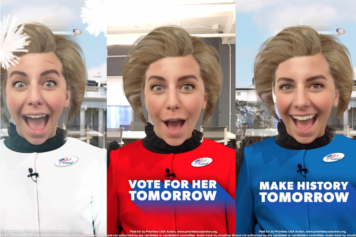 Hillary y Trump hacen un último esfuerzo en Snapchat