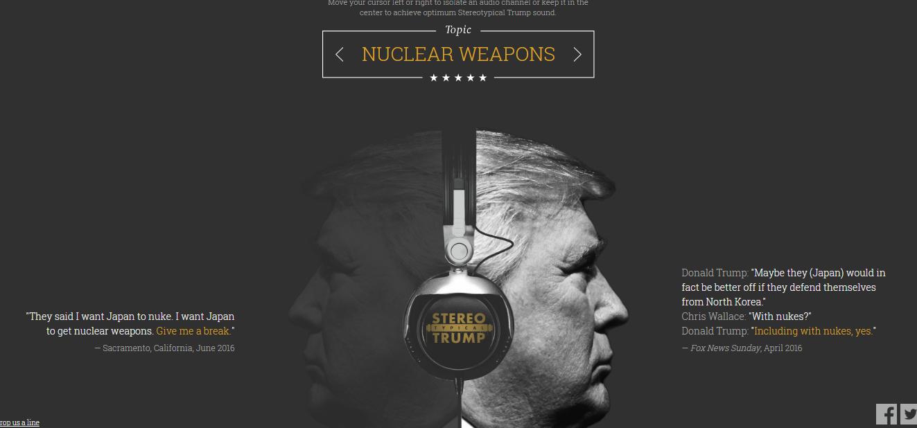 Una web para escuchar las contradicciones de Trump… en stereo