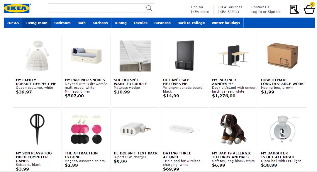 Ikea rebautizó sus productos según preguntas frecuentes googleadas por los usuarios