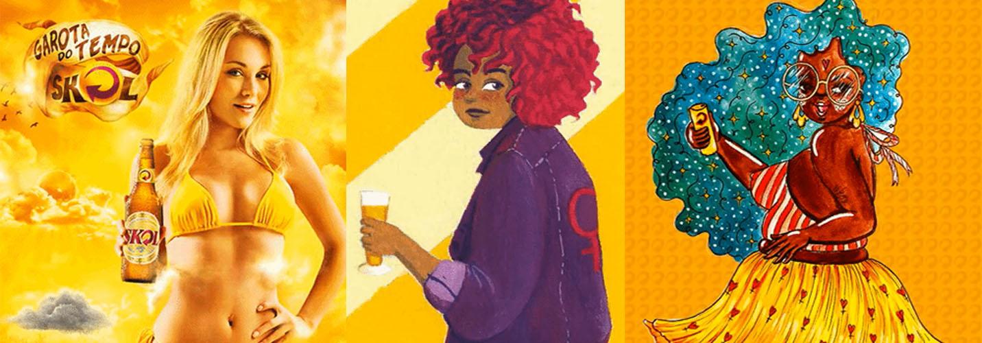 Skol contrata ilustradoras para rediseñar todos sus anuncios sexistas