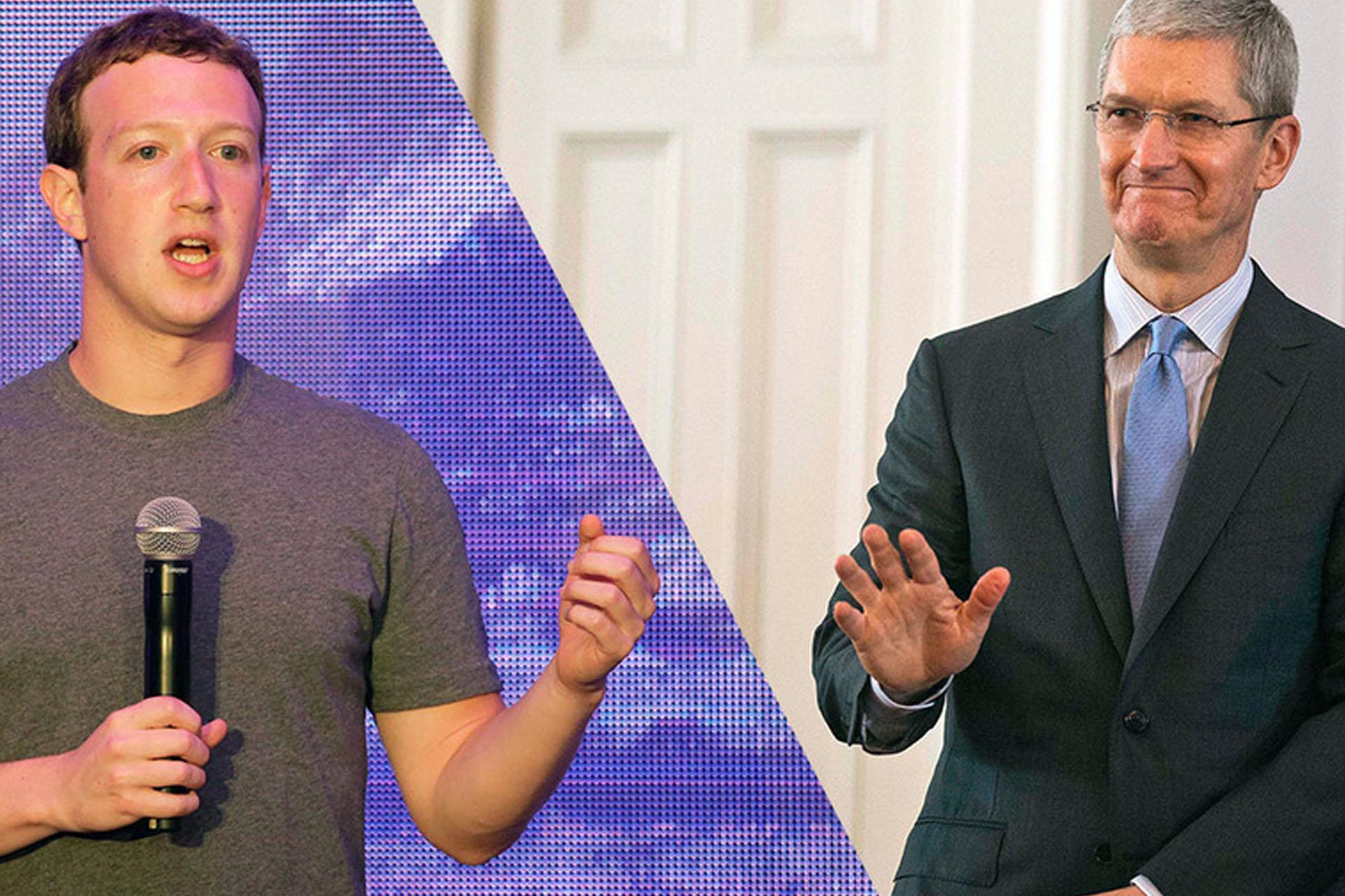 Zuckerberg vs Cook / Facebook vs Apple