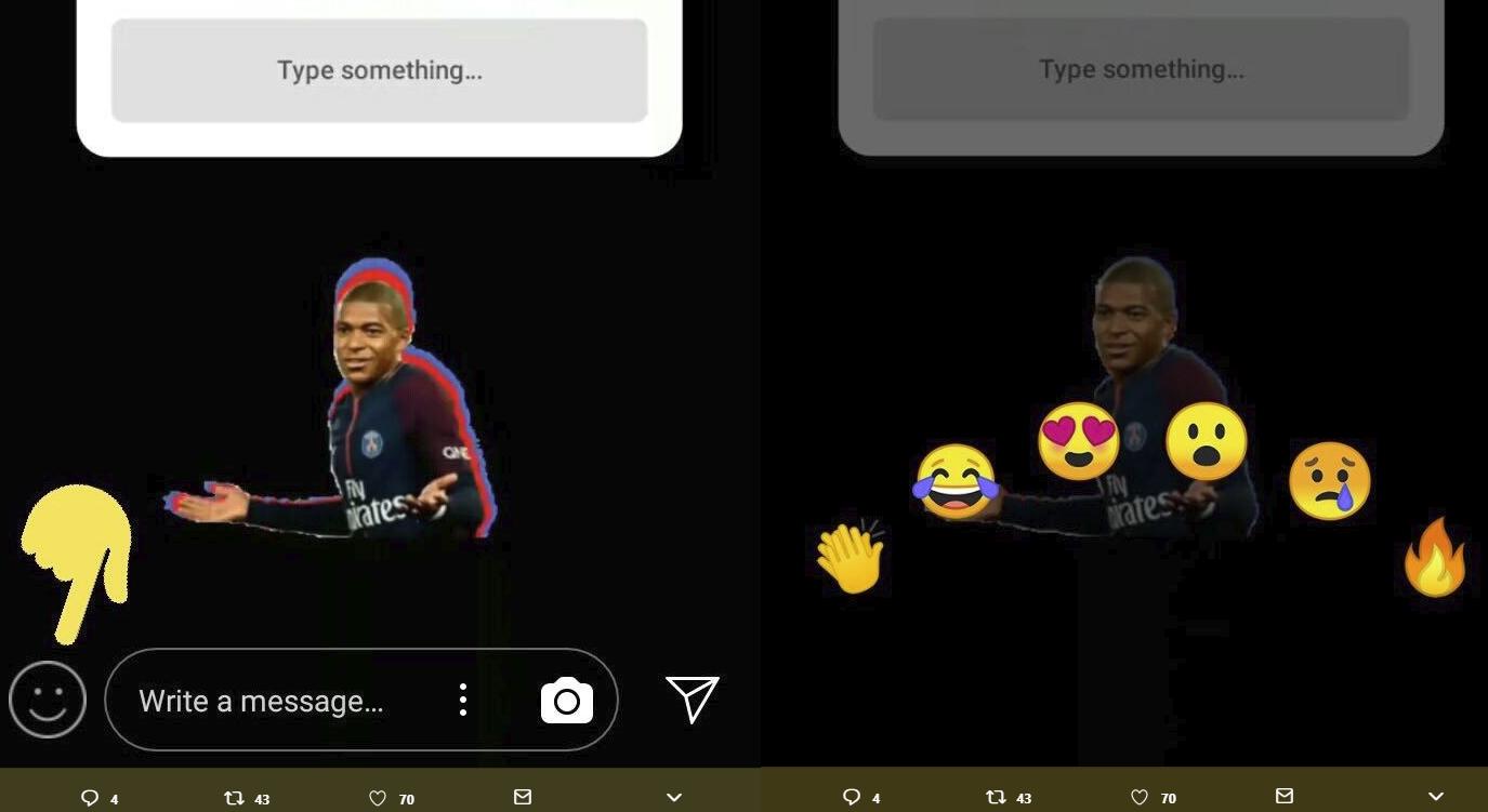 Las nuevas reacciones de Instagram Stories: Emojis de respuesta rápida