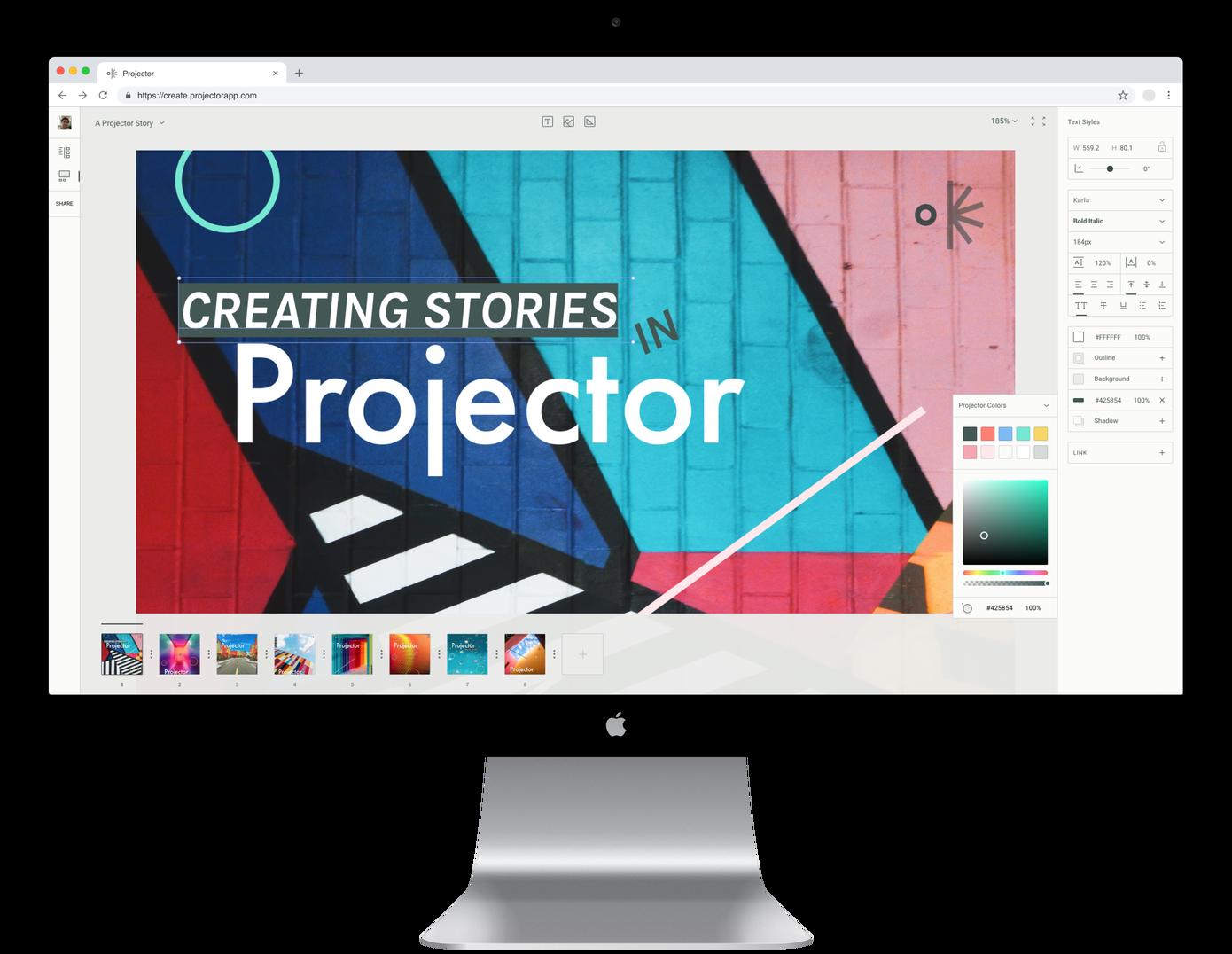 Projector: un software de diseño colaborativo en la era de Instagram