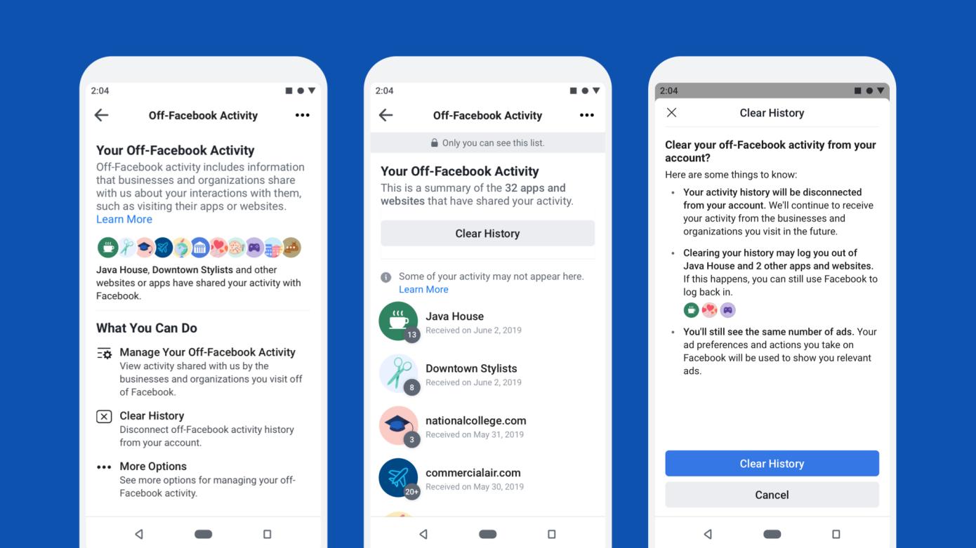 Facebook presenta nuevas herramientas para controlar cómo los sitios web comparten sus datos para la orientación de anuncios