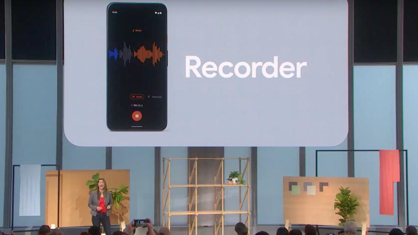 La nueva aplicación de grabadora de voz de Google transcribe en tiempo real, incluso sin conexión