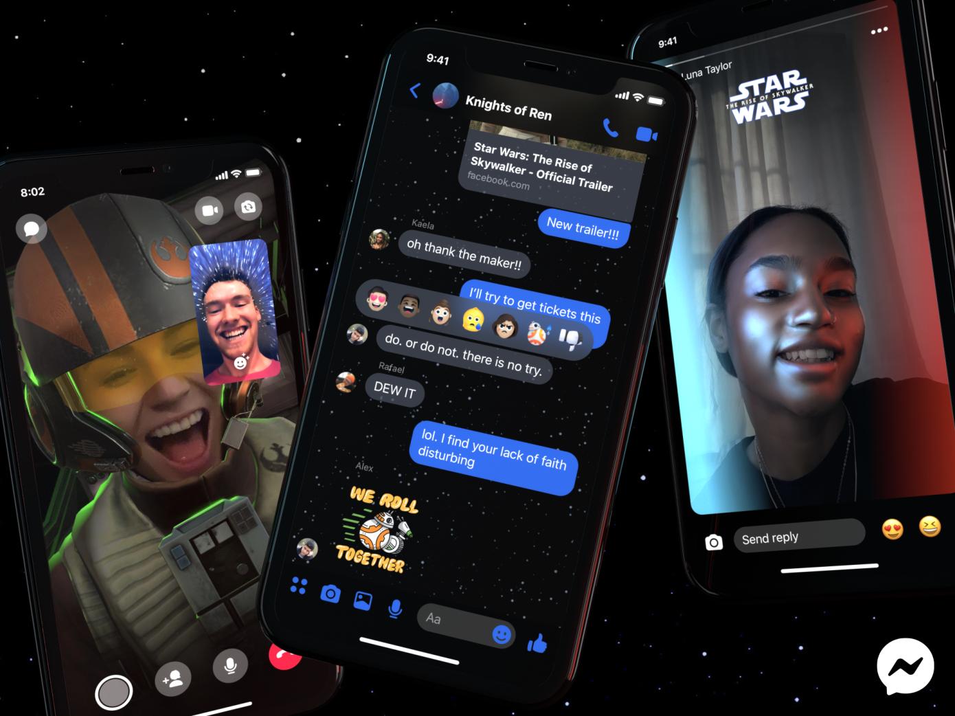 Facebook Messenger agrega funciones temáticas de Star Wars y efectos AR
