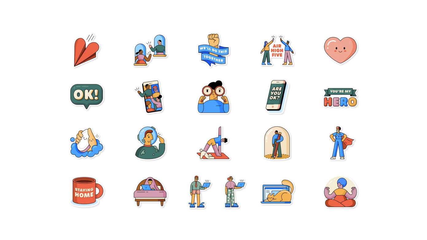 WhatsApp y la OMS lanzan stickers para ayudar a las personas a superar estos tiempos difíciles