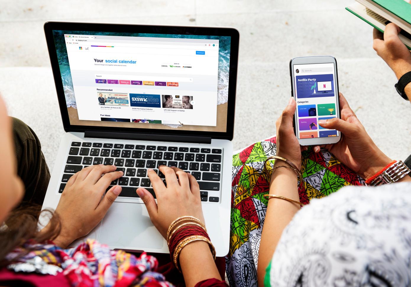 La aplicación de calendario para eventos virtuales IRL lanza un producto web