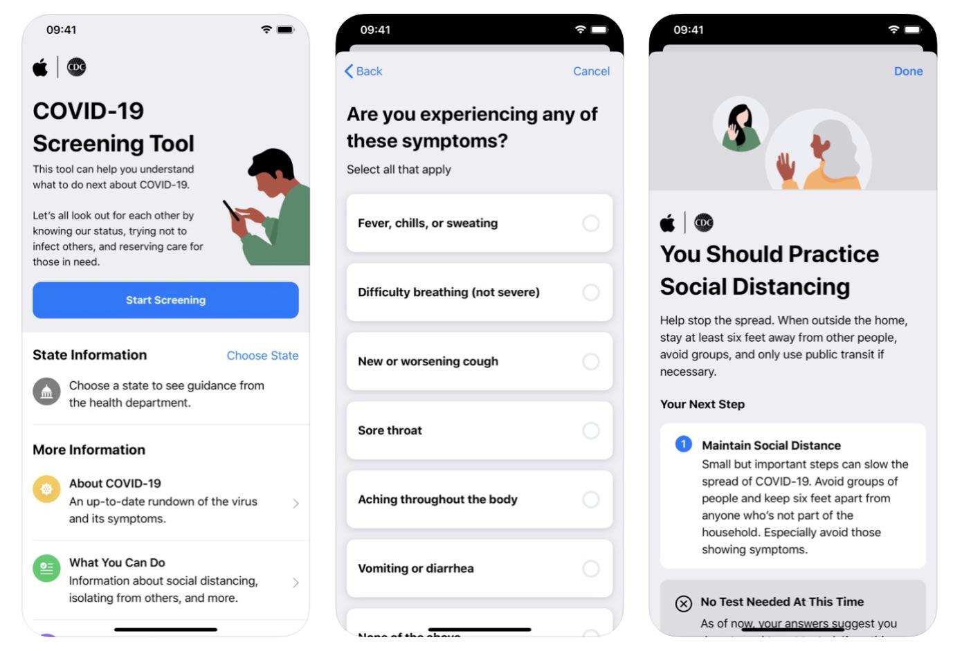 Apple agrega el intercambio de información de salud a su aplicación COVID-19 y su sitio web