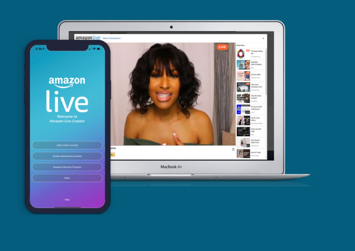 El programa Amazon Influencer se abre para transmitir a Amazon Live