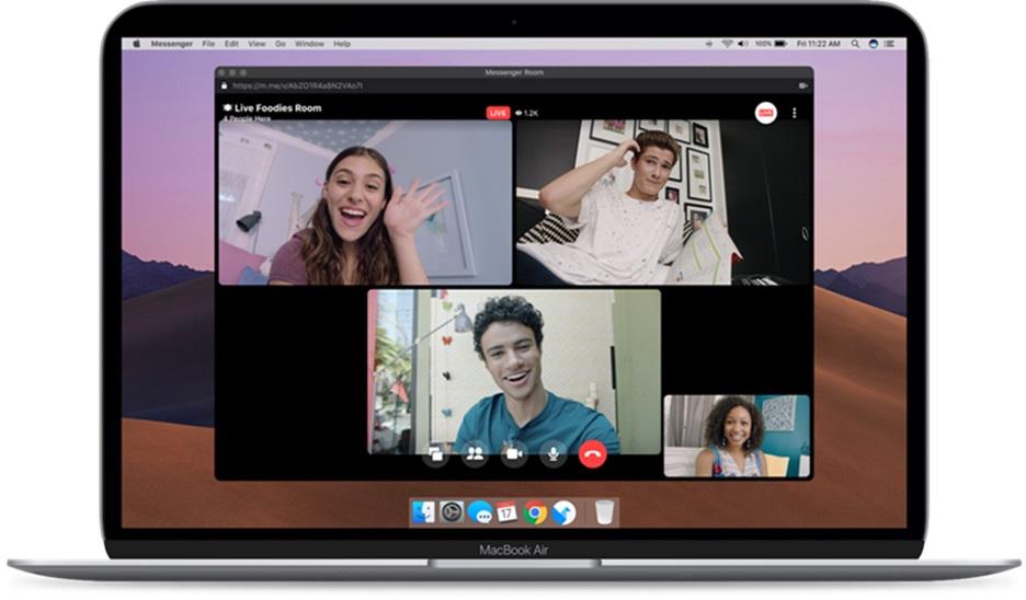 Facebook permite que Messenger Rooms transmita a través de Live