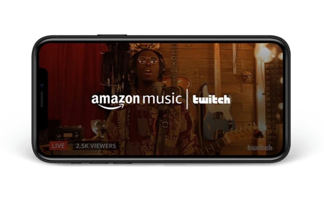 Amazon trae las transmisiones en vivo de Twitch a su aplicación Amazon Music