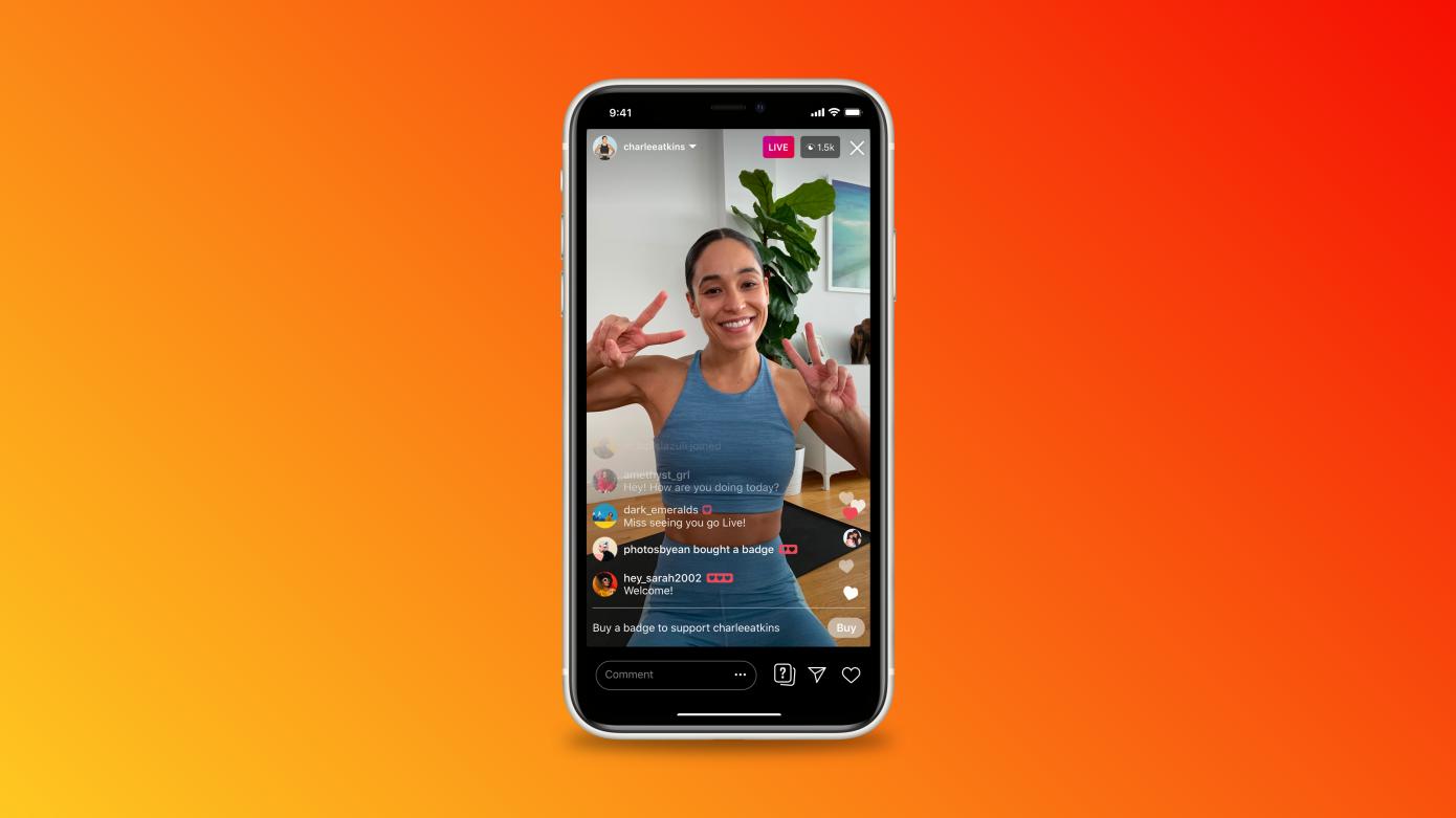 Instagram lanza insignias de fan para videos en vivo y expande la prueba de anuncios de IGTV