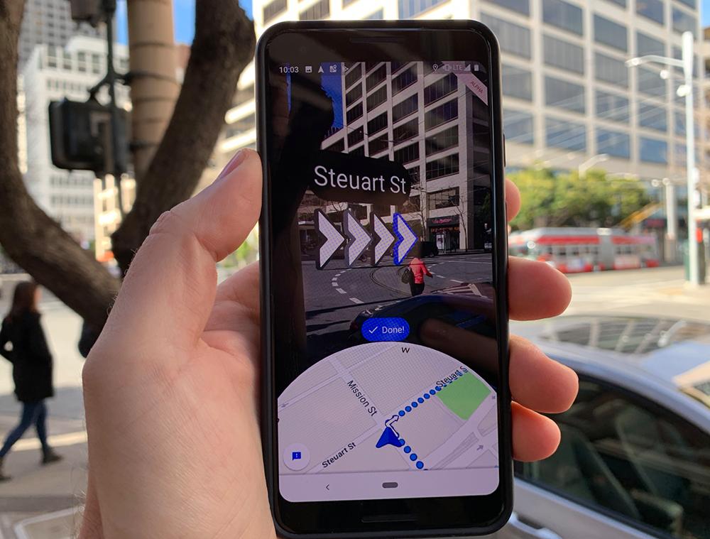 Google Maps obtiene direcciones mejoradas en AR de Live View