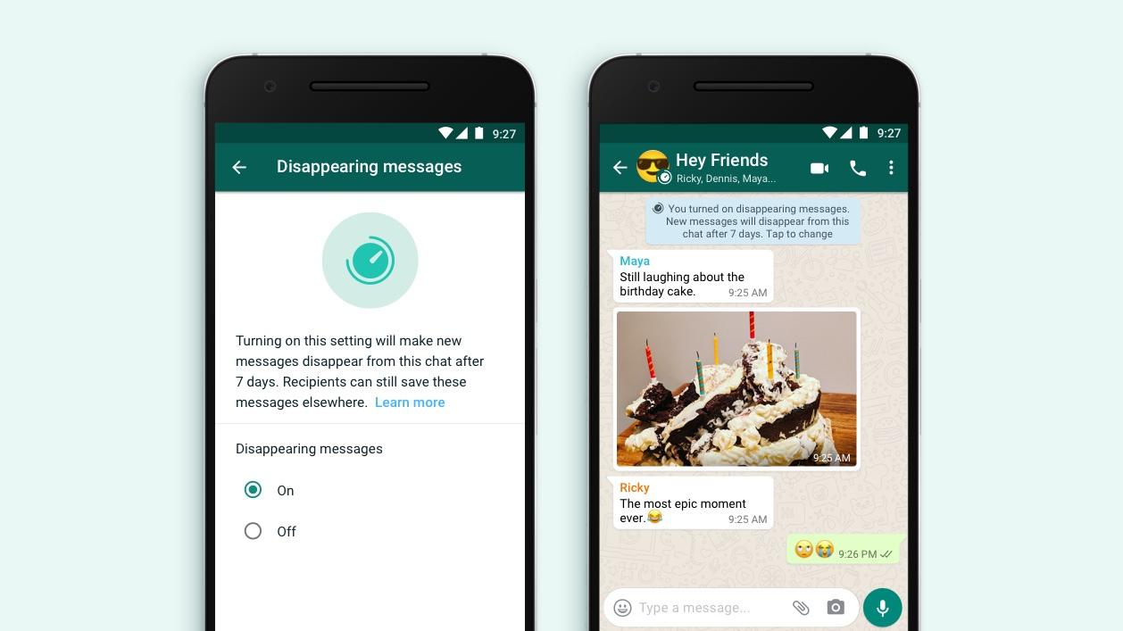 WhatsApp permite publicar mensajes que desaparecen después de 7 días