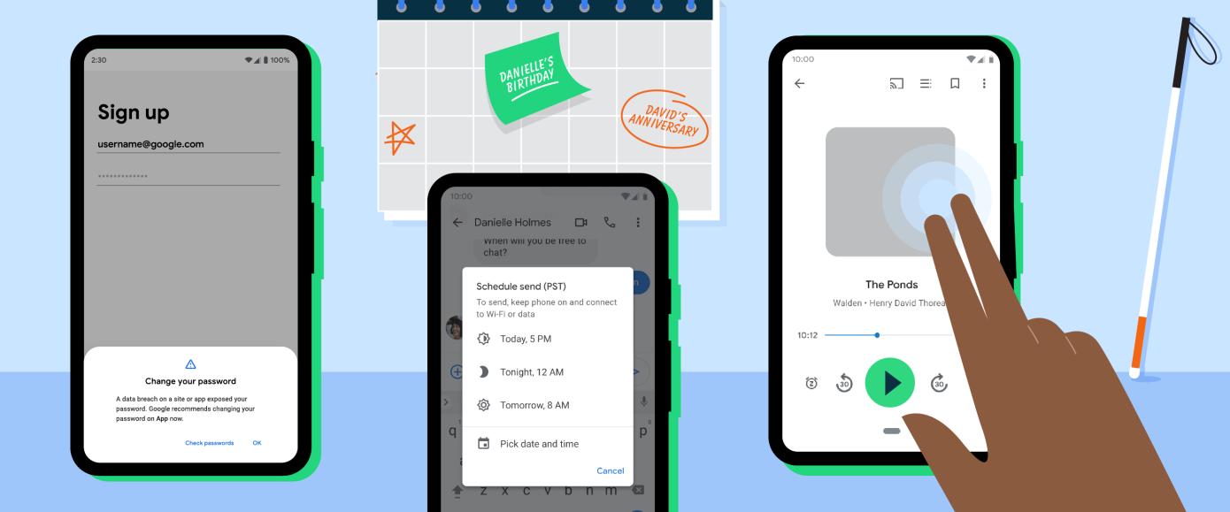 La última actualización de Android permitirá programar mensajes de texto y proteger tus contraseñas