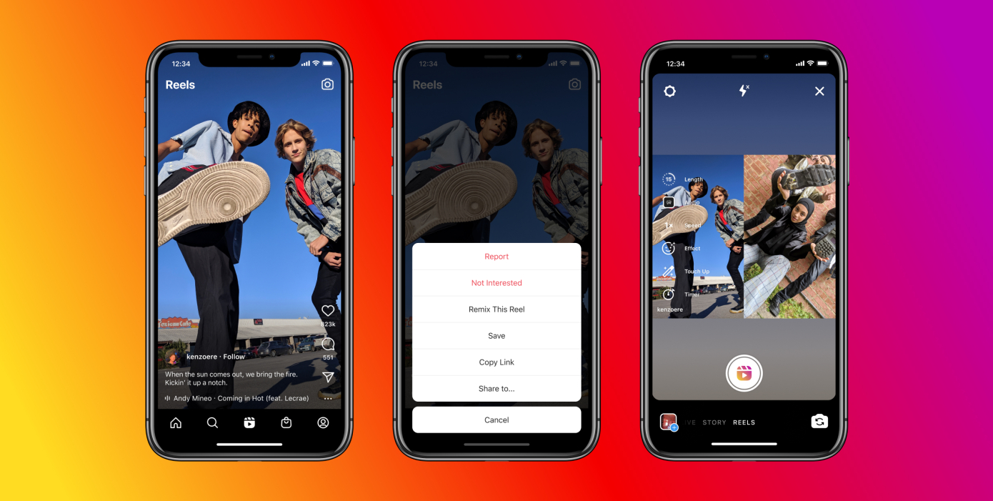 Instagram officially launched Remix on Reels, a feature similar to TikTok Duets