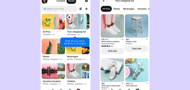 Pinterest introduces shopping list feature