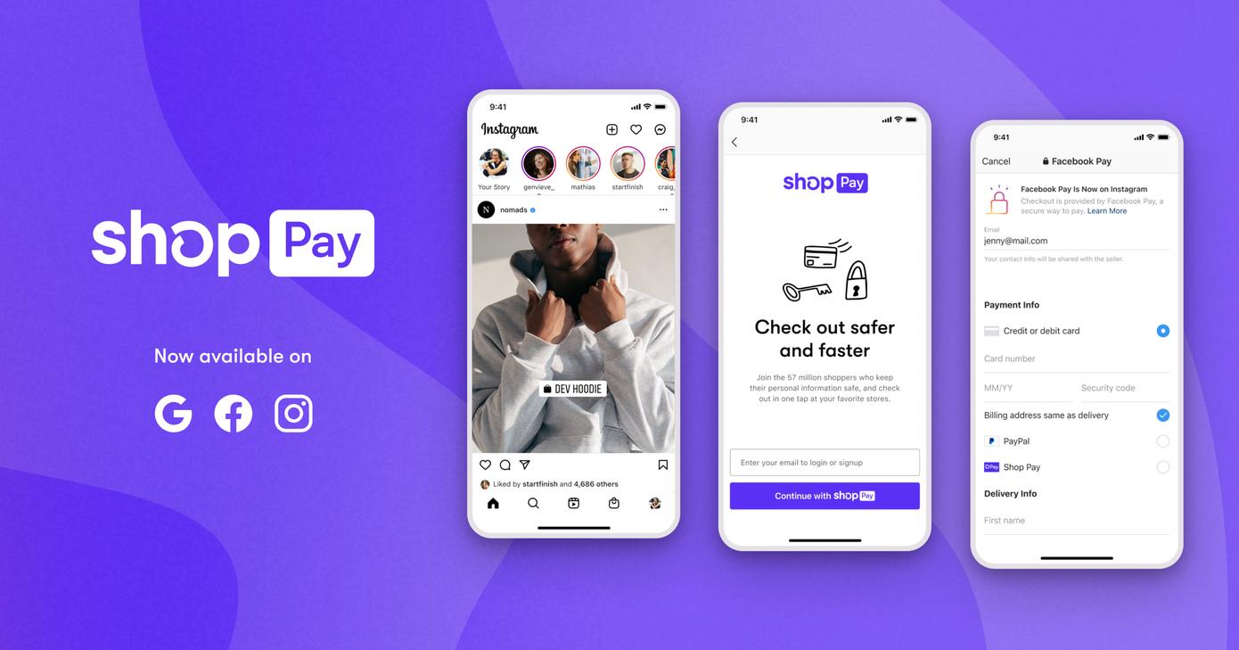 Shopify expande su pago con un clic, Shop Pay, a cualquier comerciante en Facebook o Google