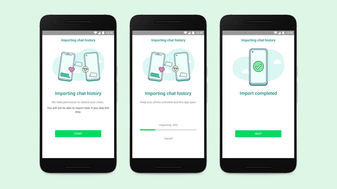 WhatsApp obtiene la capacidad de transferir el historial de chat entre sistemas operativos móviles