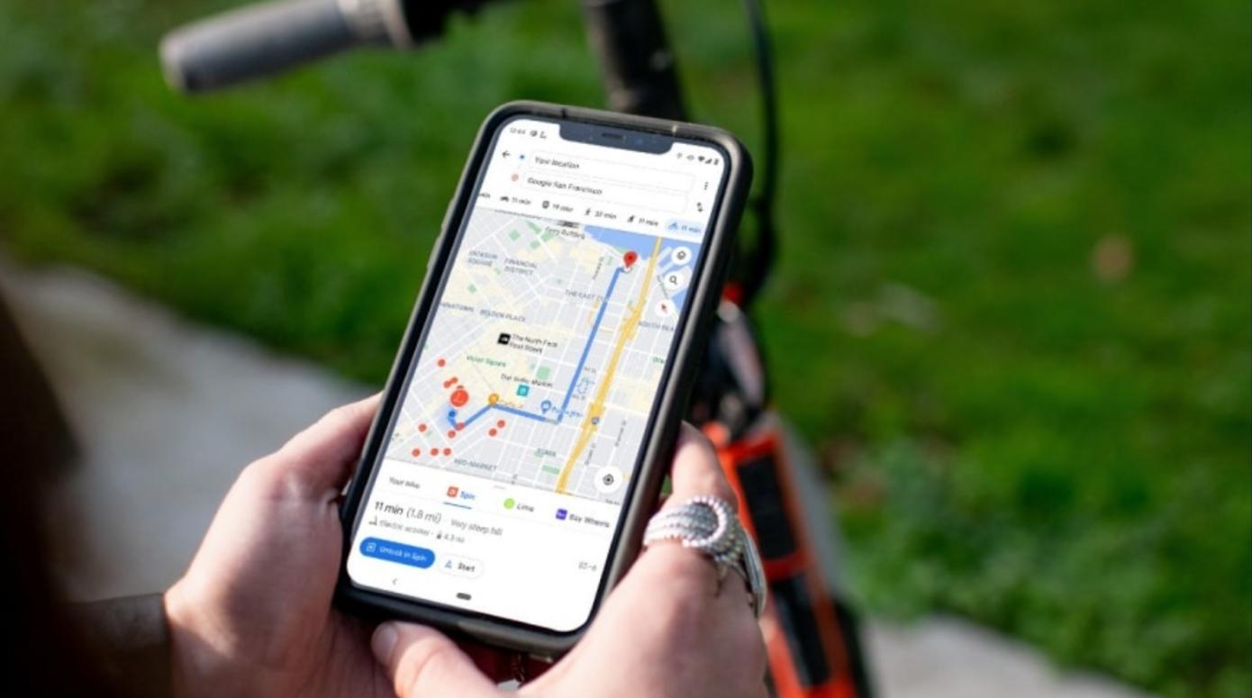 Los monopatines y las bicicletas eléctricas de Spin ahora están en Google Maps