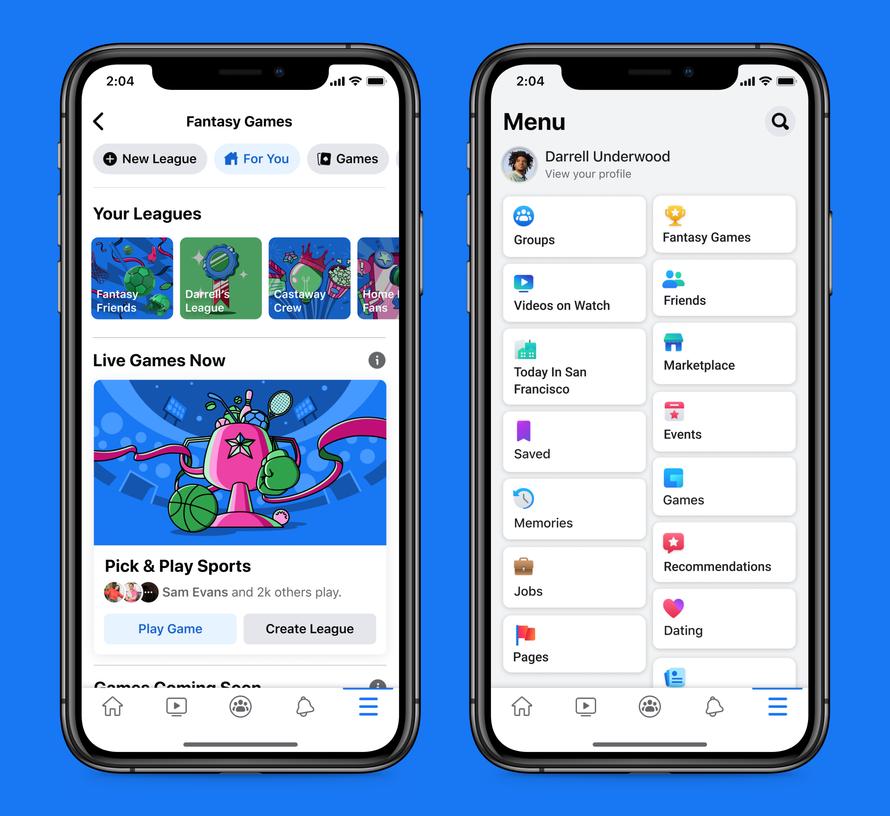 Facebook entró en el mercado de los juegos de fantasía